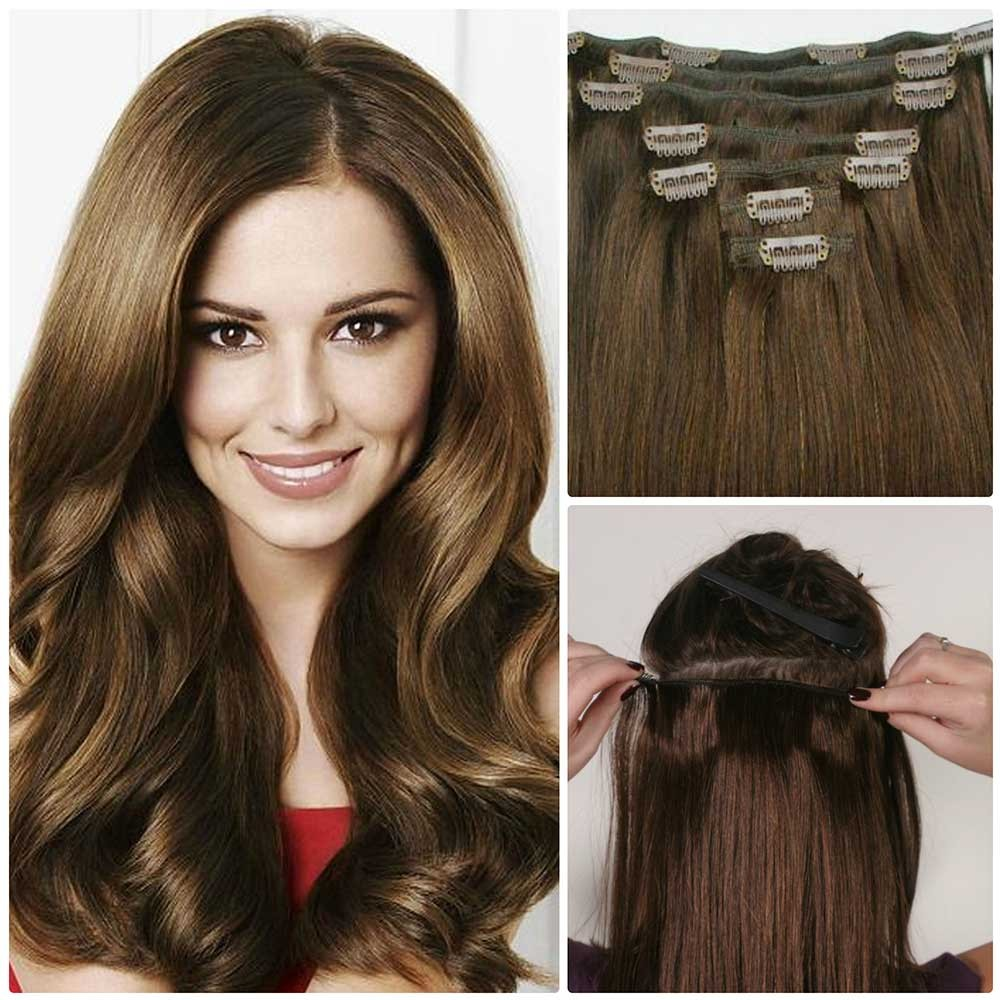 Real human hair extensions for short hair cheap clip on natural nadula cheap real remy human hair extensions clip in full head pmusecretfo Choice Image