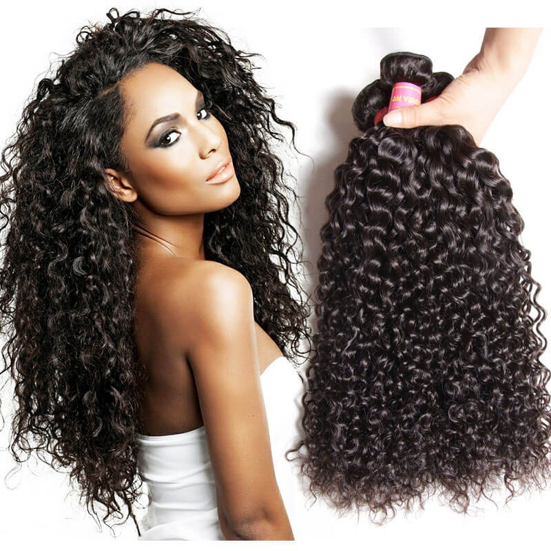 Nadula 4 Bundles Cheap Peruvian Curly Virgin Hair Weave