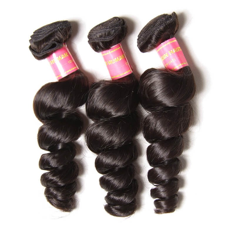Nadula Virgin Brazilian Loose Wave Hair Weave 3 Bundles