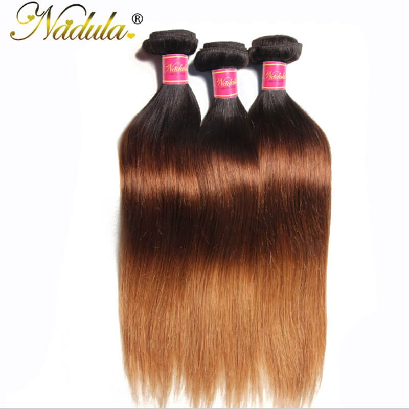 Nadula Cheap Ombre Straight Hair Weave 3 Bundles 3 Tone