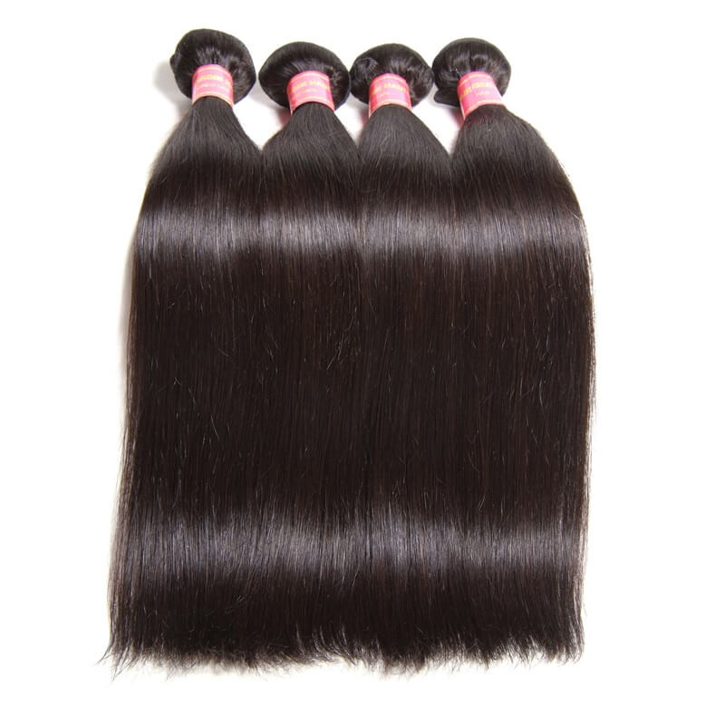 Nadula Soft Virgin Brazilian Straight Hair Weave 4 Bundles