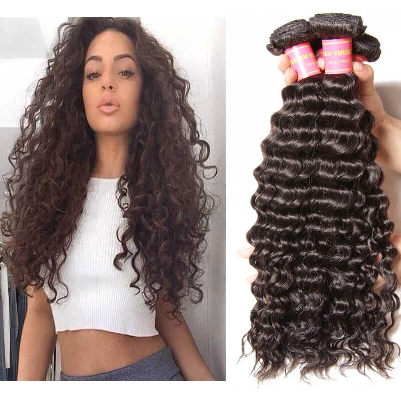 nadula unprocessed virgin peruvian hair bundles deep wave