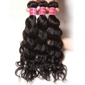 Nadula Best Indian Virgin Hair 3 Bundles Natural Wave Wavy Indian Virgin Human Hair Weave