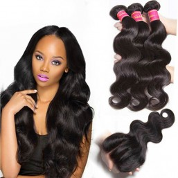 brazilian hair with closure