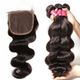 brazilian body wave hair with closure
