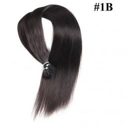 Nadula Cheap Pre Bonded I Tip Keratin Fusion Hair Extensions Straight Peruvian Remy Human Hair Extensions