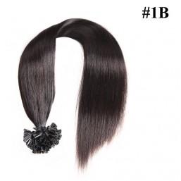 Nadula Cheap Pre Bonded U Tip Keratin Fusion Hair Extensions Peruvian Straight Remy Human Hair Extensions