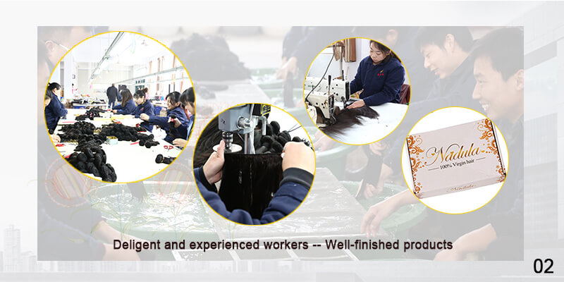 Deligent and experienced workers--Well-finished products
