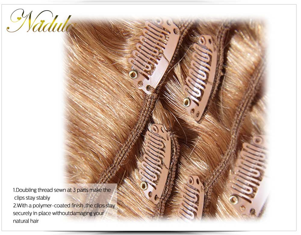100 human hair extensions clip in