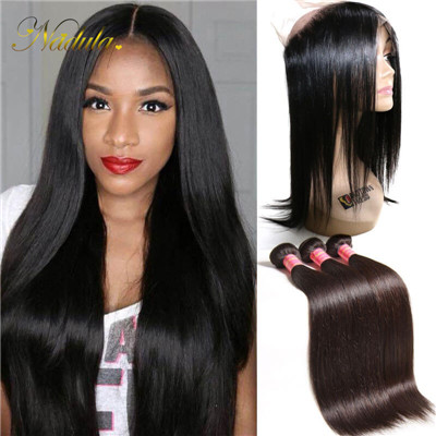 pre plucked 360 frontal with bundles