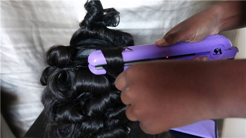 how to curl a synthetic wig with curling iron