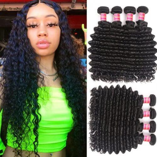 4 bundles deep wave hair