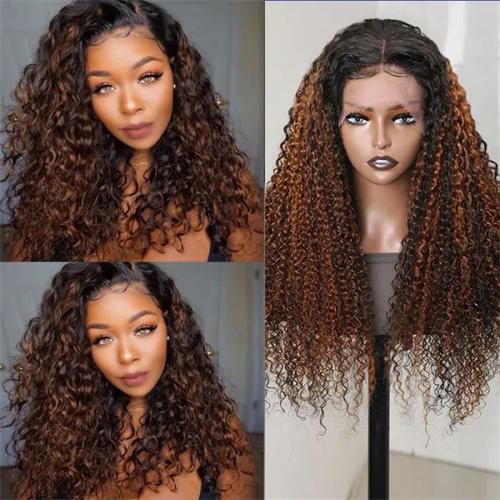 balayage highlight wig on black hair