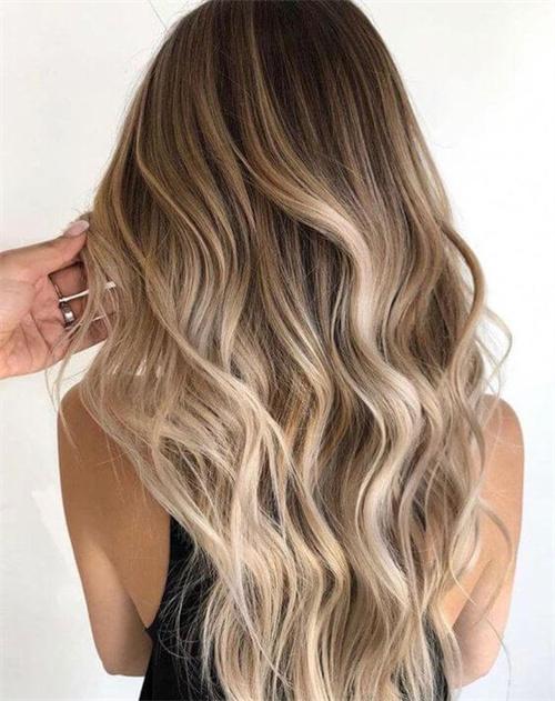Blonde Balayage on Brown Hair