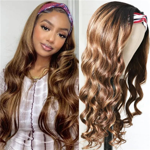 blonde highlight headband wigs