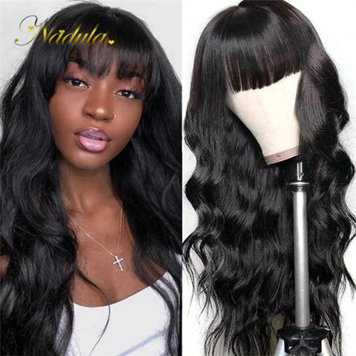 capless wigs with bangs