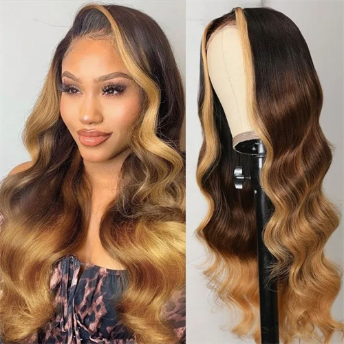 Long face framing highlights wig