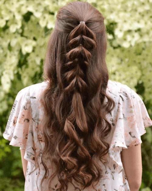curly pull-through braid