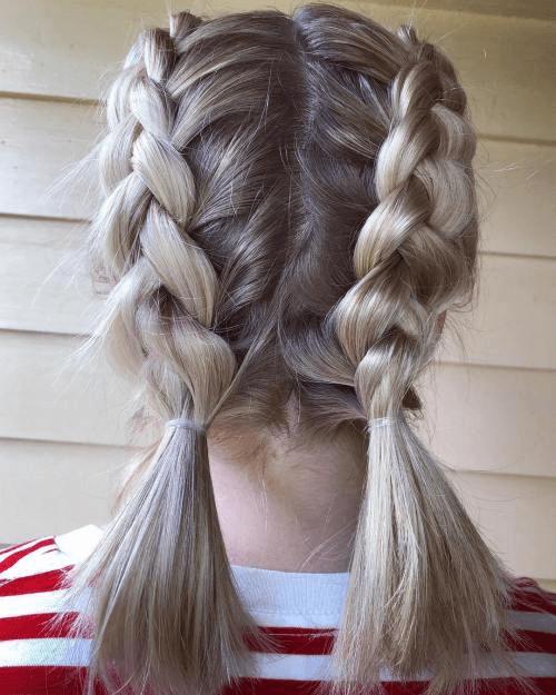 pigtail dutch braids