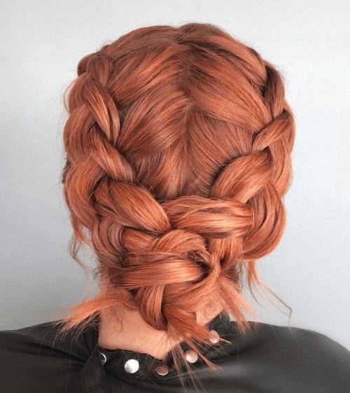 sleek braided knot
