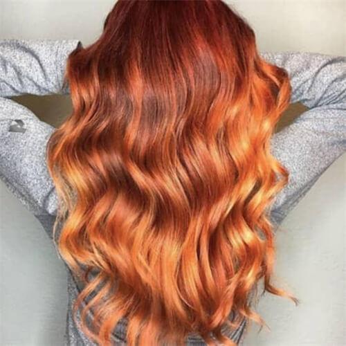 orange ombre wig
