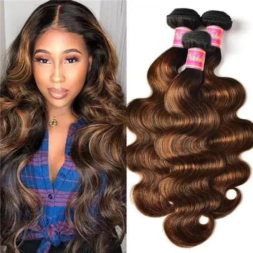 balayage brown hair bundles