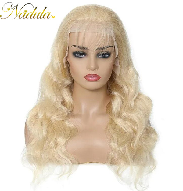 body wave blonde transparent lace front wig