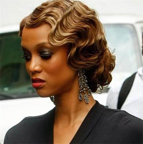 finger wave wig