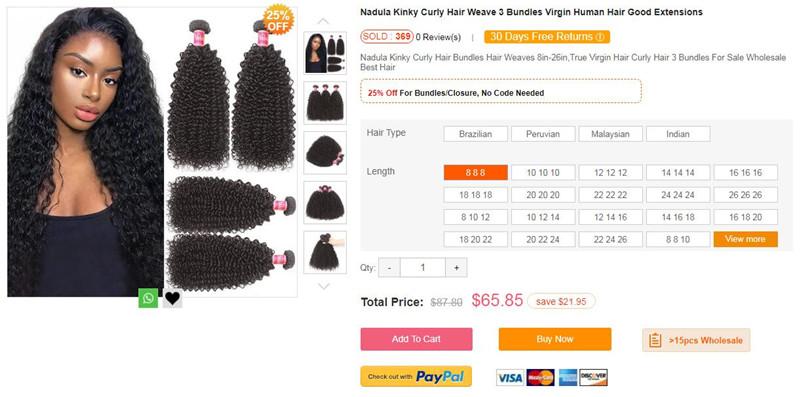 kinky curly bundles hair