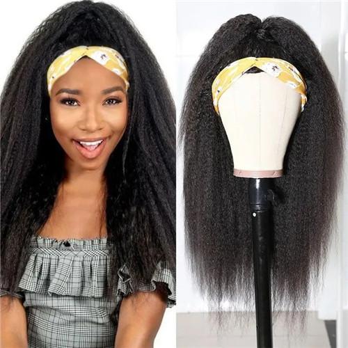 kinky straight half wig
