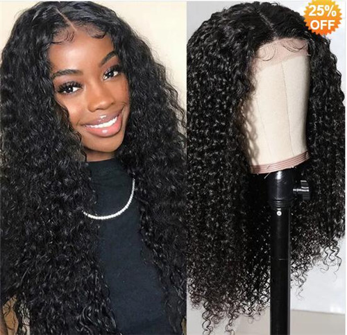 lace closure curly wig