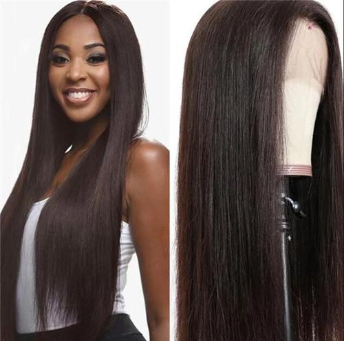long dark brown wig
