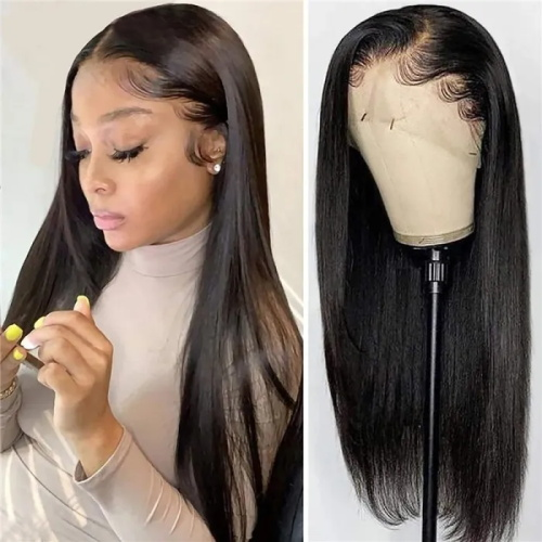 13x4 straight lace front wig