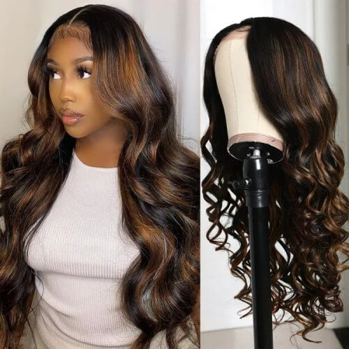 body wave highlight wigs