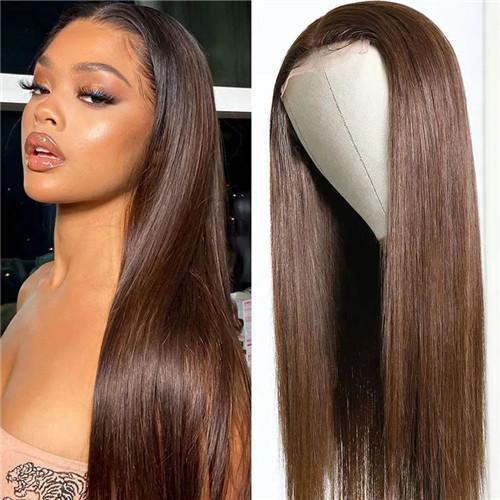 lace part brown wig