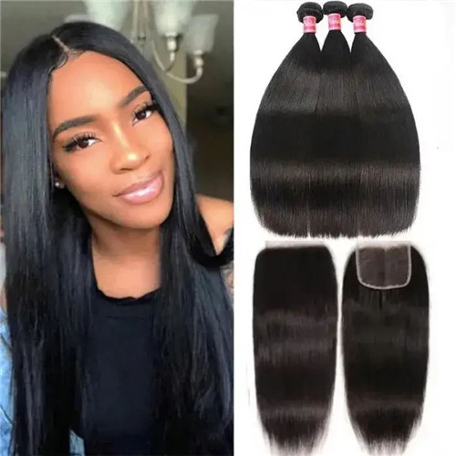 straight weave hair cost