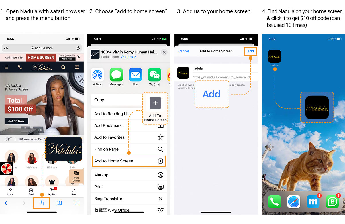 How to add to home screen for IOS system